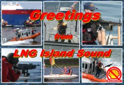 Greetings from Shell's LNG Island Sound!